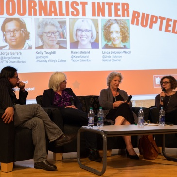 Journalist Interrupted panel