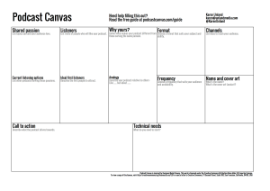 Podcast Canvas by Karen Unland